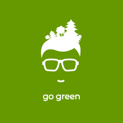 Forest In Hair Go Green Sticker