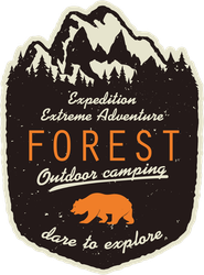 Forest Outdoor Camping Sticker