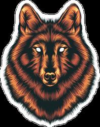 Forest Spirit Red Wolf Sticker