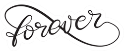 Forever Word In Infinity Sign Lettering Sticker