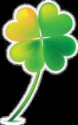 Four Leaf Clover Green & Yellow Sticker
