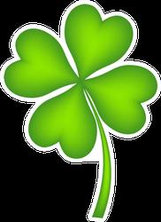 Four Leaf Clover Illustration Sticker