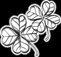 Four-leaf Clover Outline Sticker
