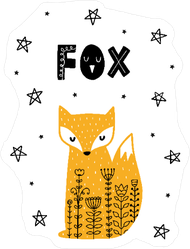 Fox Among the Stars Sticker