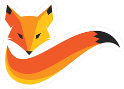 Fox And Tail Sticker