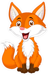 Fox Cartoon Sticker