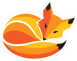 Fox Curled Up In A Ball Sleeping Sticker