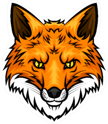 Fox Head Mascot Sticker
