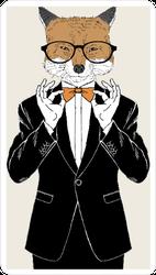 Fox in a Tuxedo Sticker