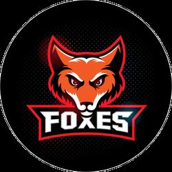 Fox Mascot with Logo Type Sticker