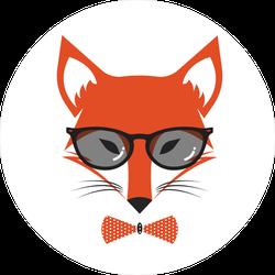 Fox Wearing Bowtie and Sunglasses Sticker