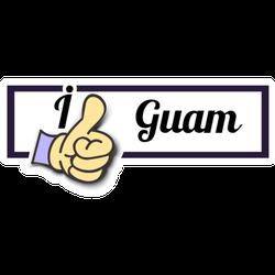 "Frame "" I Like Guam "" Thumb Up! Sticker"