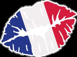 France Flag Kiss Sticker