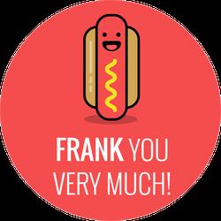 Frank You Very Much Hot Dog Sticker