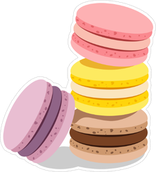French Cookie Macaroons Sticker