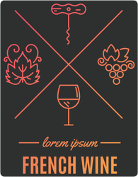 French Wine Elements Sticker