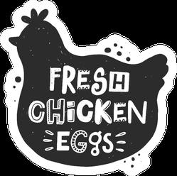 Fresh Chicken Eggs Farm Text Sticker
