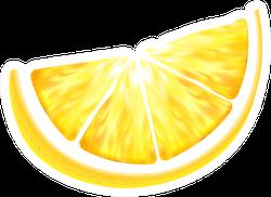 Fresh Juicy Lemon Slice Sticker