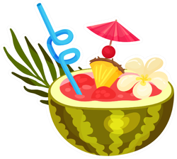 Fresh Watermelon Cocktail Sticker