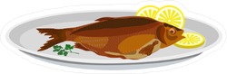 Fried Fish Sticker