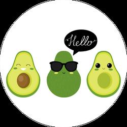 Friendly Avocados Sticker