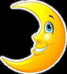 Friendly Moon Sticker