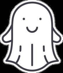 Friendly Slim Line Ghost Sticker