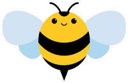 Friendly Smiling Bee Sticker