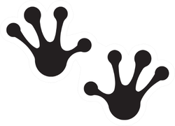 Frog Hand Foot Silhouette Sticker