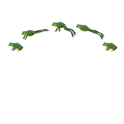 Frog Jumping Animation Sequence Cartoon Sticker