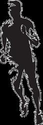 Front View Running Man Sticker