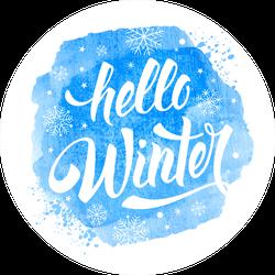 Frosty Hello Winter Sticker