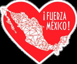Fuerza Mexico Heart Sticker