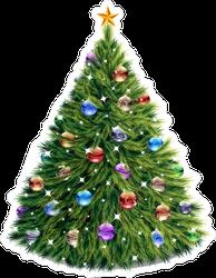 Full Decorated Christmas Tree Sticker