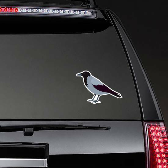 Crow Isolated On White Background Sticker example