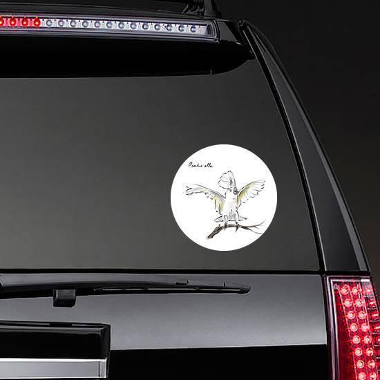 Cockatoo Hand Drawn Graphic Bird Cacatua Alba Sticker example