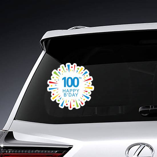 100th Happy Birthday Colorful Sticker example