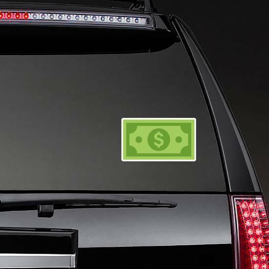 Dollar Bill Sticker on a Rear Car Window example