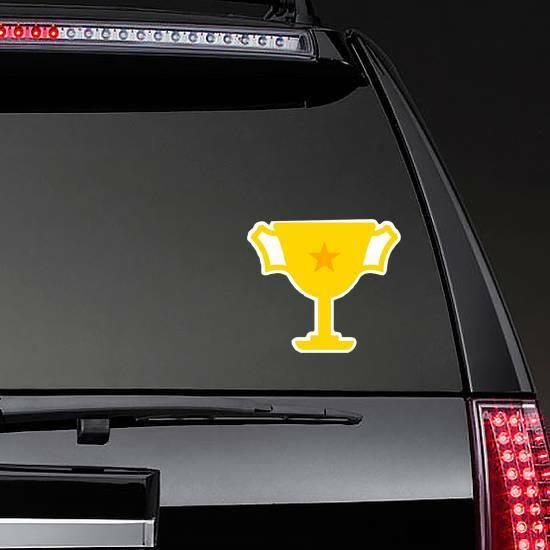 Single Star Trophy Sticker on a Rear Car Window example