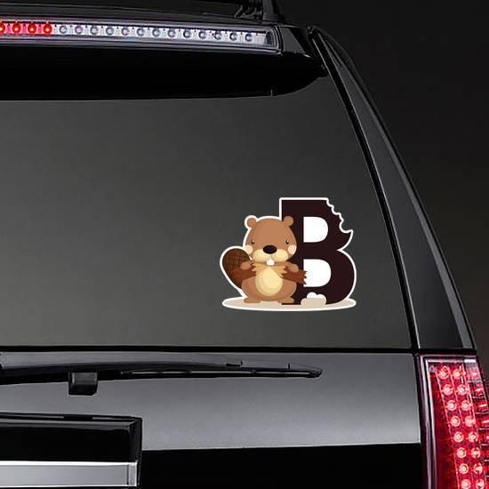 B For Beaver Sticker