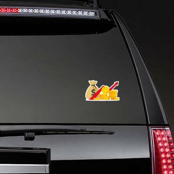 Profit Illustration Sticker on a Rear Car Window example