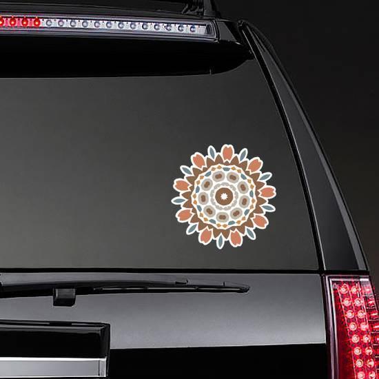 Boho Floral Design Sticker