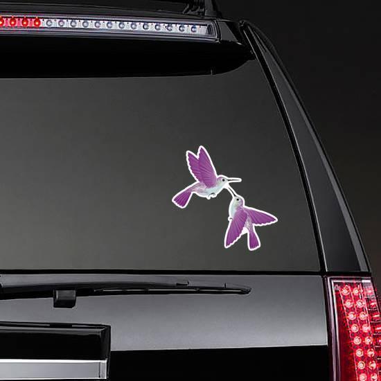 Hummingbirds Hovering Isolated Illustration Sticker example