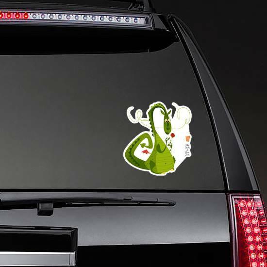 Diada de Sant Jordi Dragon Sticker on a Rear Car Window example