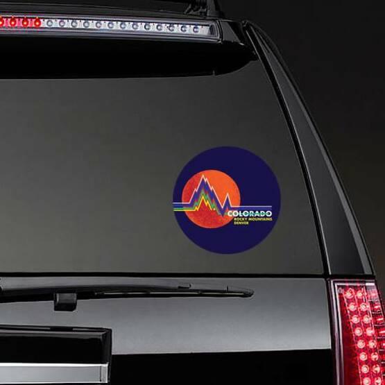 Colorado Rocky Mountains Denver Sticker on a Rear Car Window example