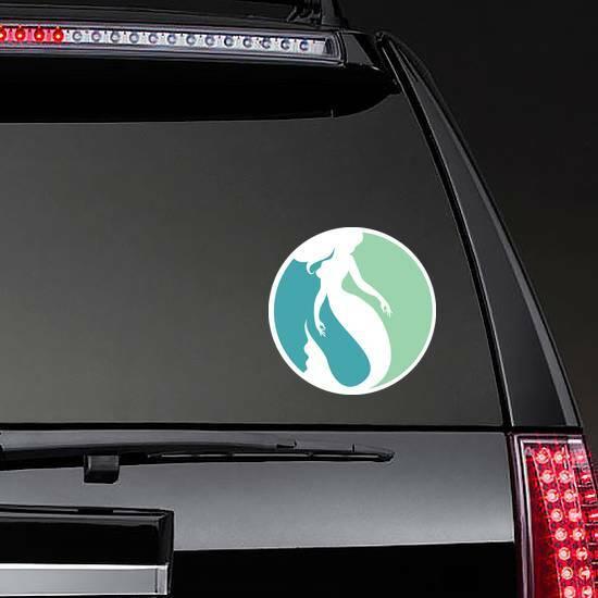 Mermaid Logo Design Sticker on a Rear Car Window example