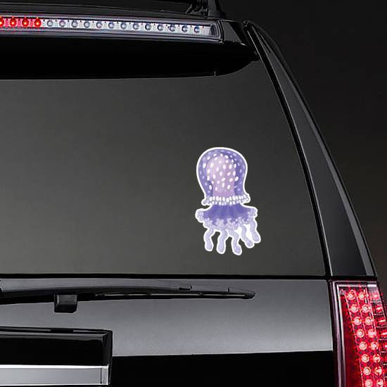 Jellyfish Icon Spotted Sticker
