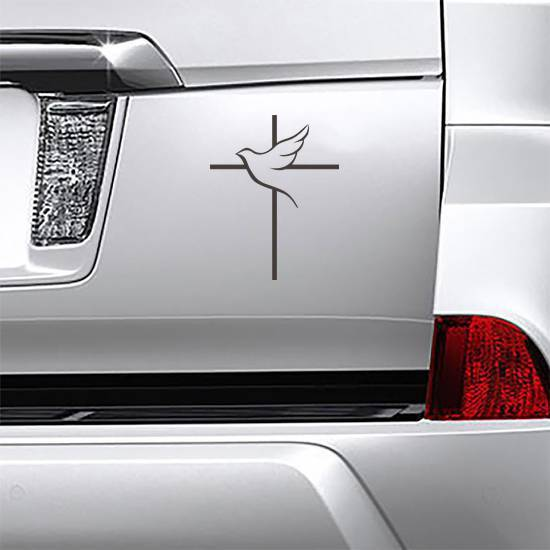 Dove And Cross Sticker example