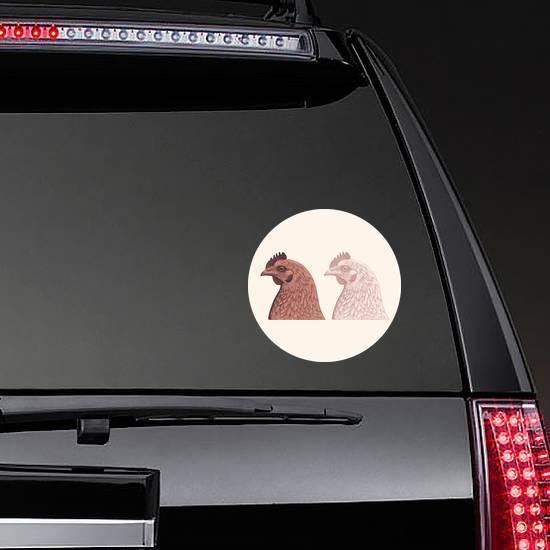 Chicken Head Design Set Illustration Sticker example