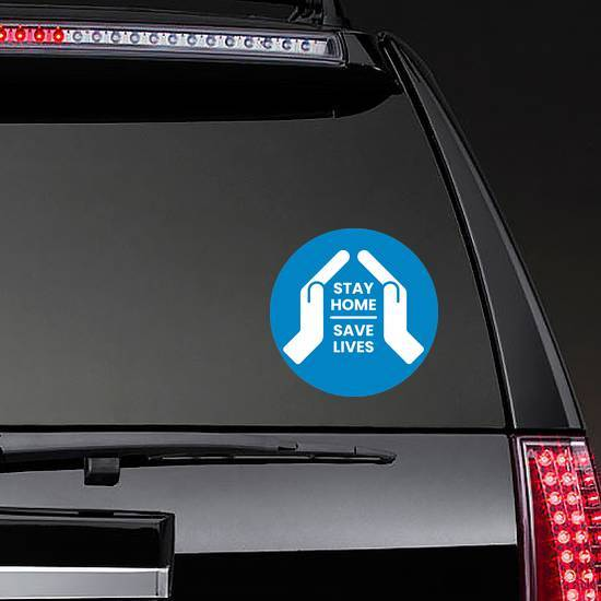 Stay Home Save Lives Hands Sticker example